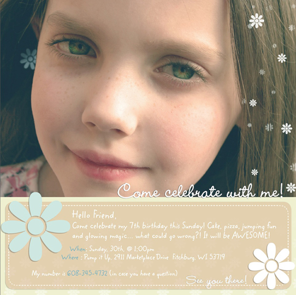 Online Invitation For Birthday Party with luxury invitation layout