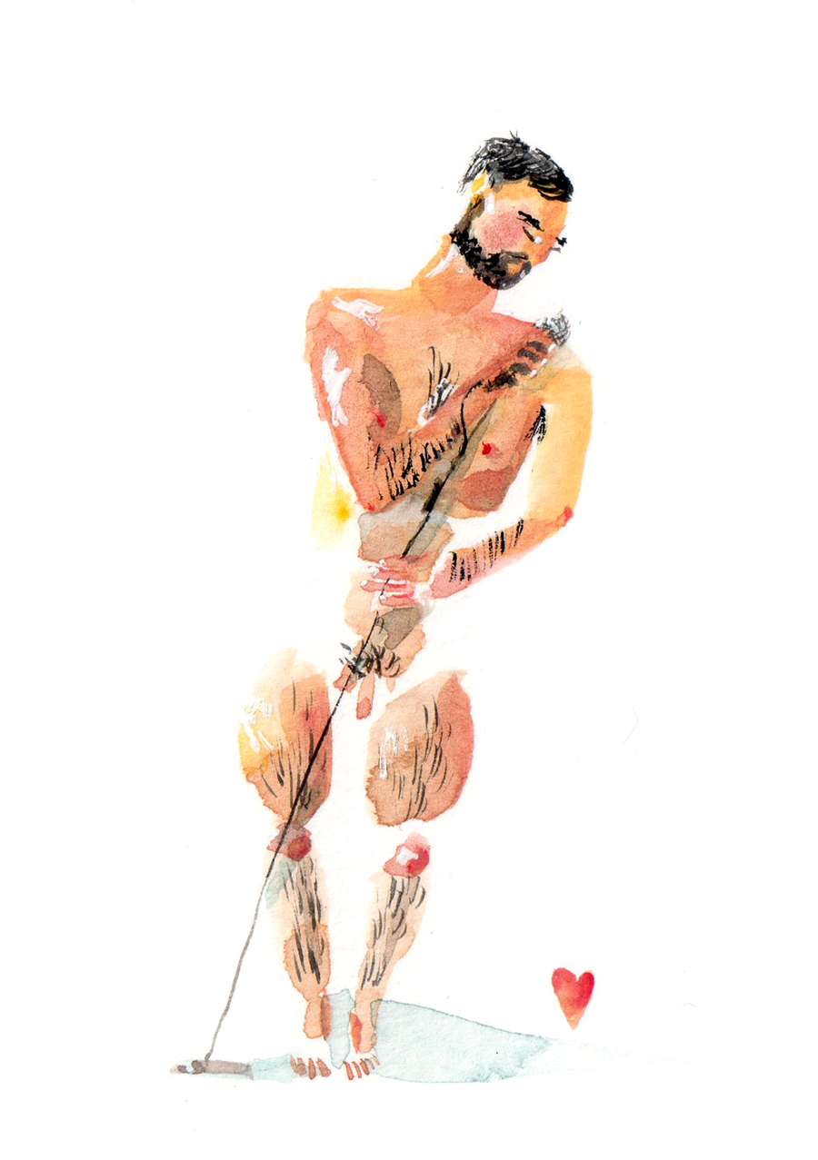 The Birthday Suit Men - Lucy Eldridge Illustration