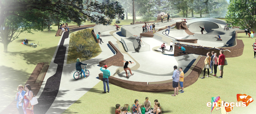 Enlocus landscape architecture skatepark youth and for Space landscape construction adelaide